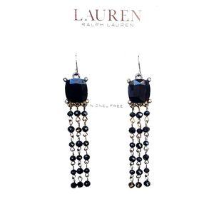 Lauren Ralph Lauren Black Stone Dangle Earrings